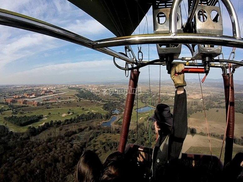 vuelo sierra de Guadarrama