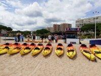 Alquiler de kayak en playa de Aro