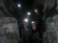 Friends in a cave