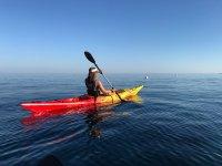 Entrenando en kayak individual