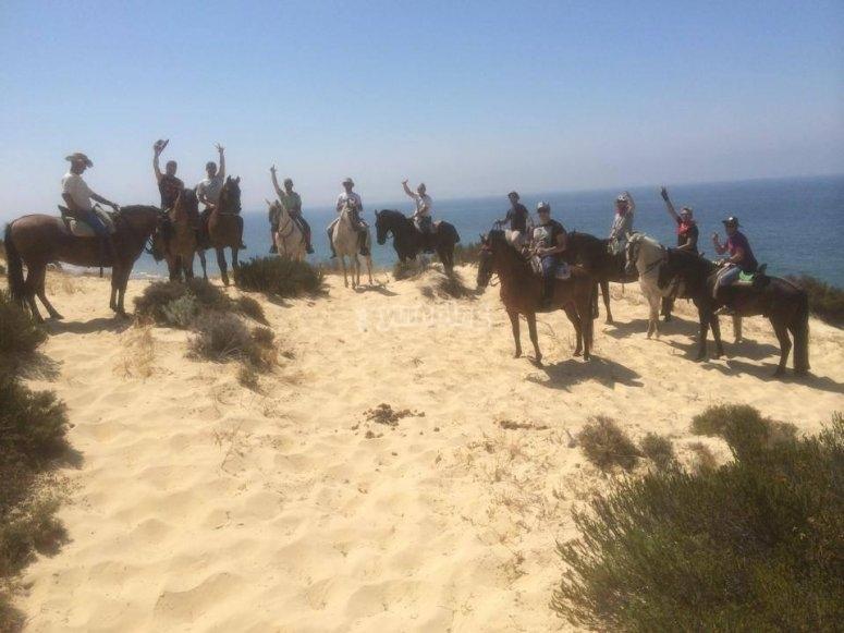 Caballos en la playa de Huelva