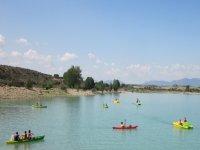 Actividades acuáticas en el campamento