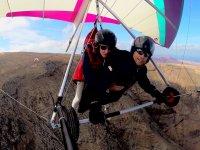 Hang gliding on the coast of Lanzarote