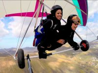 Hang glider tandem in the Canary Islands