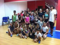 Alumnos del campamento de danza