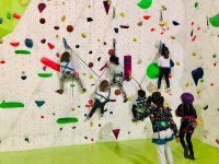Clase infantil de escalada