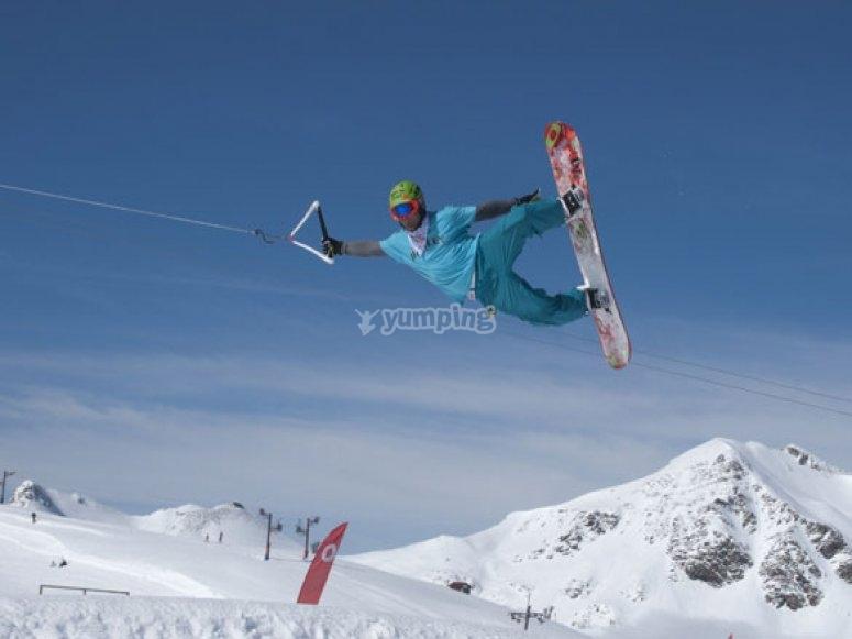 Israel Planas en el I Campeonato de España de Snow Towing VODAFONE