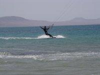 Disfrutando del kite
