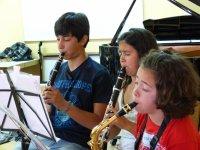 In flute class