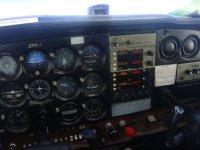 Panel de mandos del avion