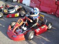 Piloto de karting infantil