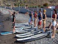 日落冲浪课程和桨站起来桨冲浪理论追浪