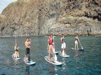 站起来桨冲浪划皮艇和桨板