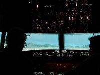 Preparando il volo in cabina