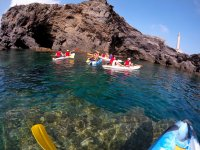 Visiting the caves of Cabo de Palos by kayak