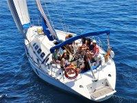 velero gente mar