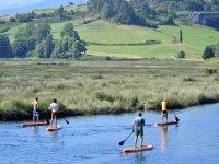 Paddle surf river navia