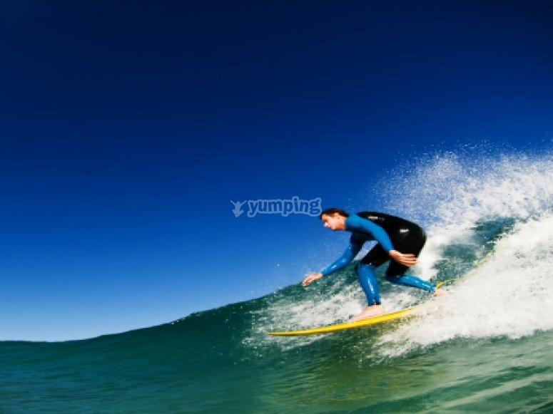 Curso de surf para dos personas