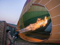 Inflating the hot air balloon