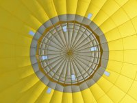 The inside of a yellow balloon