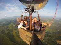 Flying with the balloon pilot