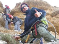 Climbing the ferrata with professionals