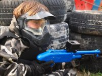 Child paintball player