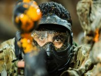 Hiding during game of paintball
