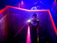 Jugando al laser tag