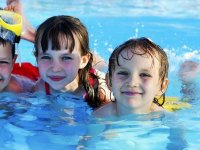 The kids in the pool