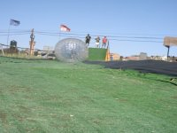 Zorbing in action