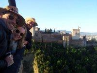 Asomados a la Alhambra desde el globo