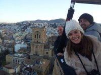 La catedral de Granada desde el globo