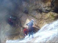 巴兰科水在马拉加登山运动峡谷在马拉加