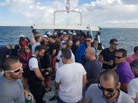 A bordo del barco durante la fiesta
