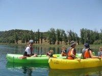 une journée de kayak avec le famille