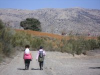 远足径徒步旅行在阿尔梅里亚各级