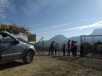 标志贝莱斯吉普车之旅4X4的路线在阿尔梅里亚