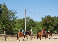 学习户外骑马
