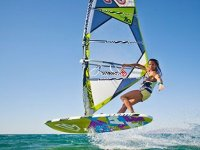 Woman with windsurfing