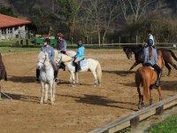 Ejercitandonos con los caballos