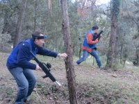La actividad se realiza en medio de la natura