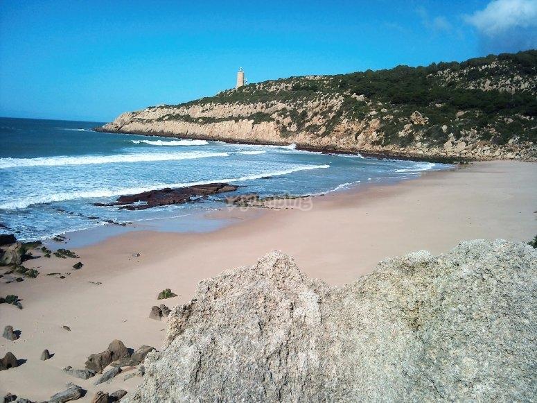 Vistas de la playa virgen