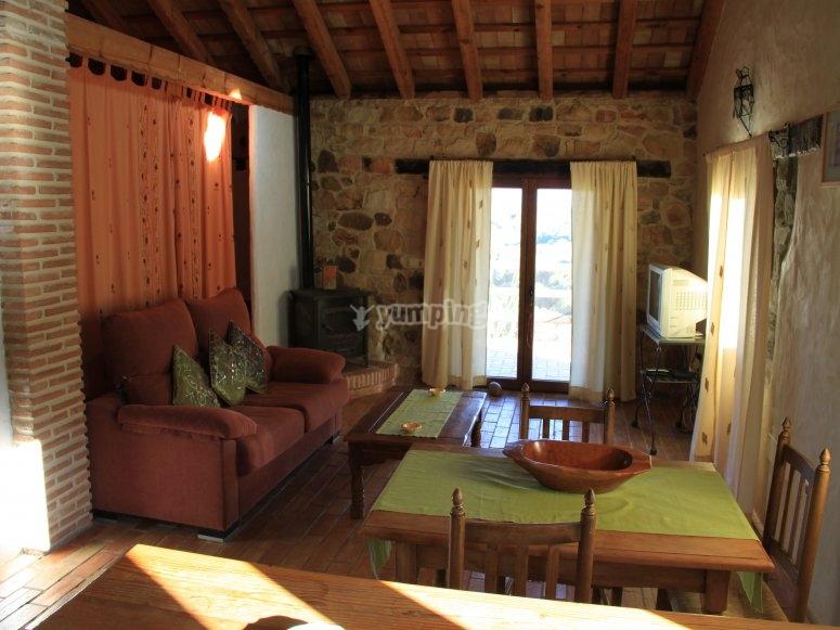 Interior del alojamiento rural