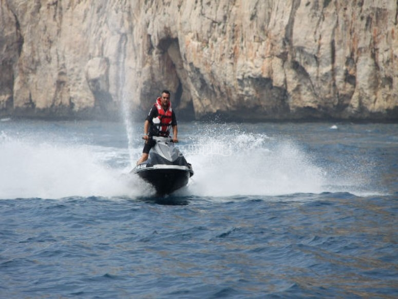On your feel in the jet-ski