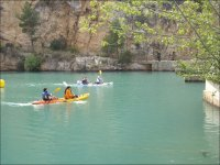 Enjoy with the canoes