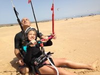 Dando clase de kite