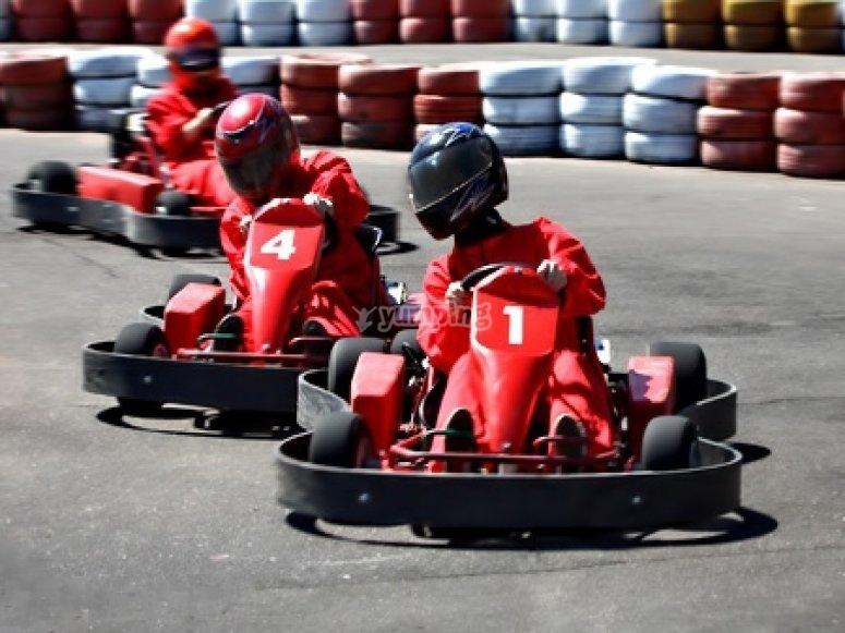 Competición karts para empleados