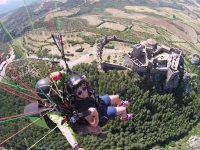 Paragliding over the Loarre castle