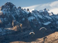 Winter paragliding trip